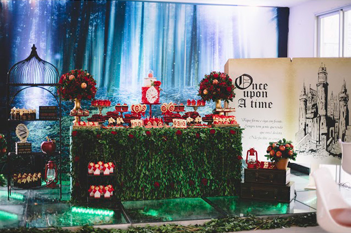 "Once-Upon-A-Time's-Enchanted-Forest-Dessert-Table from ABC's ""Once Upon a Time"" Inspired Birthday Party on Kara's Party Ideas 