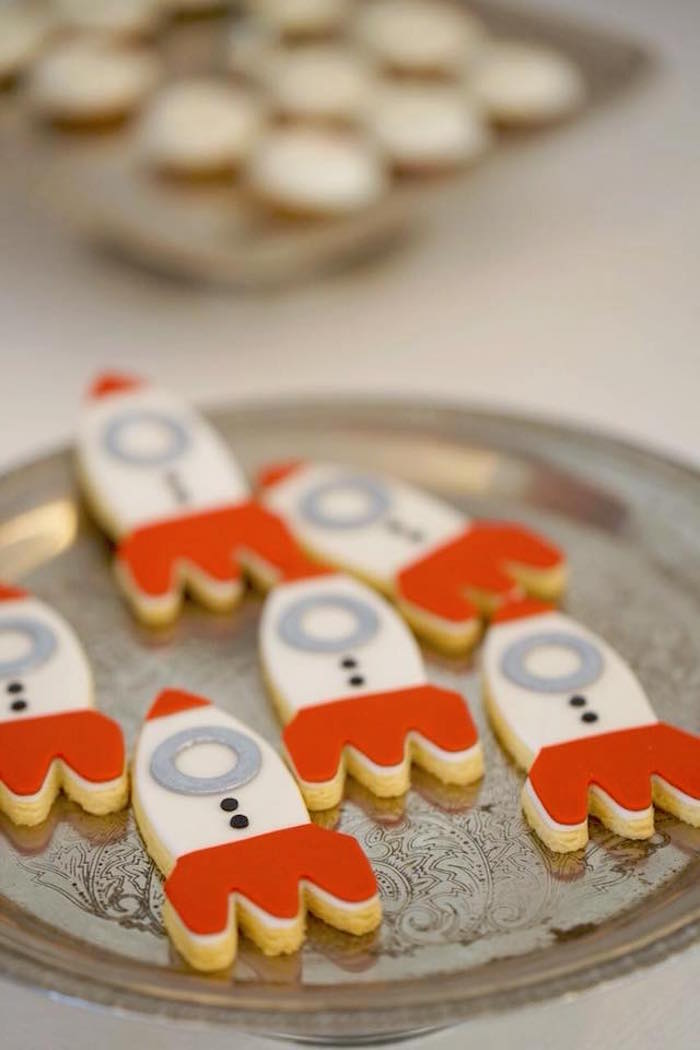 Rocket Ship Cookies from an Outer Space Rocket Ship Birthday Party on Kara's Party Ideas | KarasPartyIdeas.com (9)