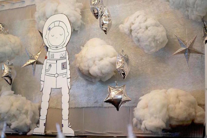 Space Backdrop from an Outer Space Rocket Ship Birthday Party on Kara's Party Ideas | KarasPartyIdeas.com (11)