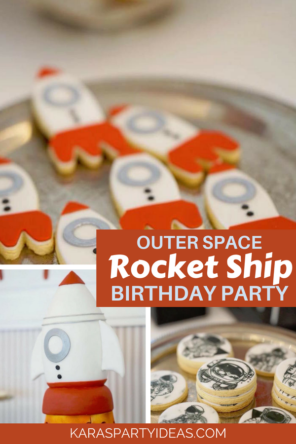 Outer Space Rocket Ship Birthday Party via KarasPartyIdeas - KarasPartyIdeas.com