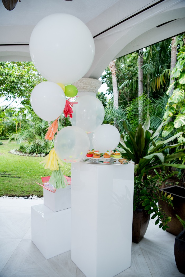 Dessert Table Pedestals from a Pastel Neon Teen Birthday Party on Kara's Party Ideas | KarasPartyIdeas.com (21)