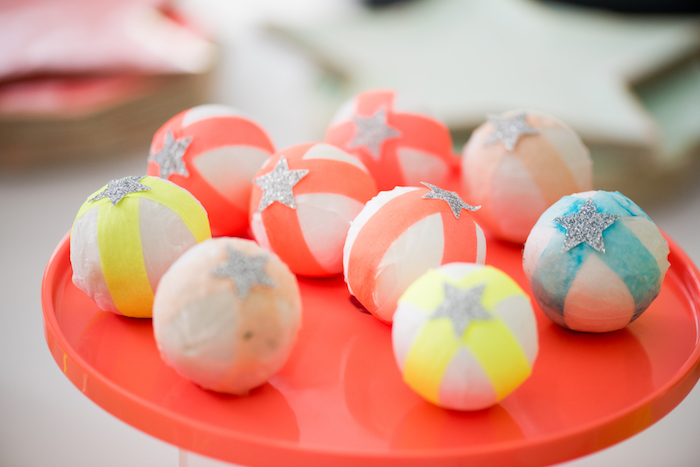 Neon Balls from a Pastel Neon Teen Birthday Party on Kara's Party Ideas | KarasPartyIdeas.com (30)