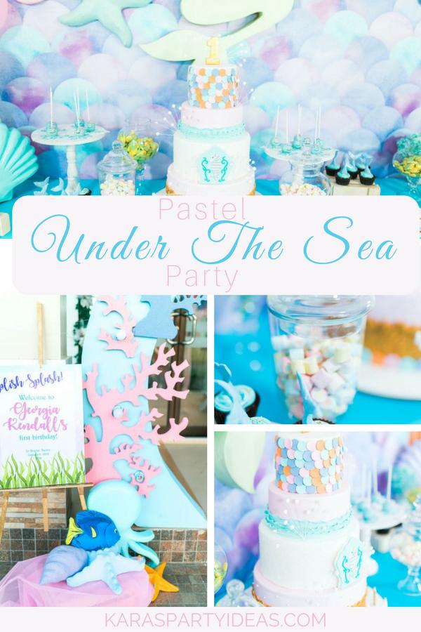 Pastel Under The Sea Party via Kara's Party Ideas - KarasPartyIdeas.com