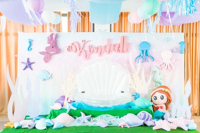 Pastel Under the Sea Party on Kara's Party Ideas | KarasPartyIdeas.com (3)