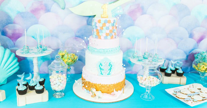 Pastel Under the Sea Party on Kara's Party Ideas | KarasPartyIdeas.com (2)