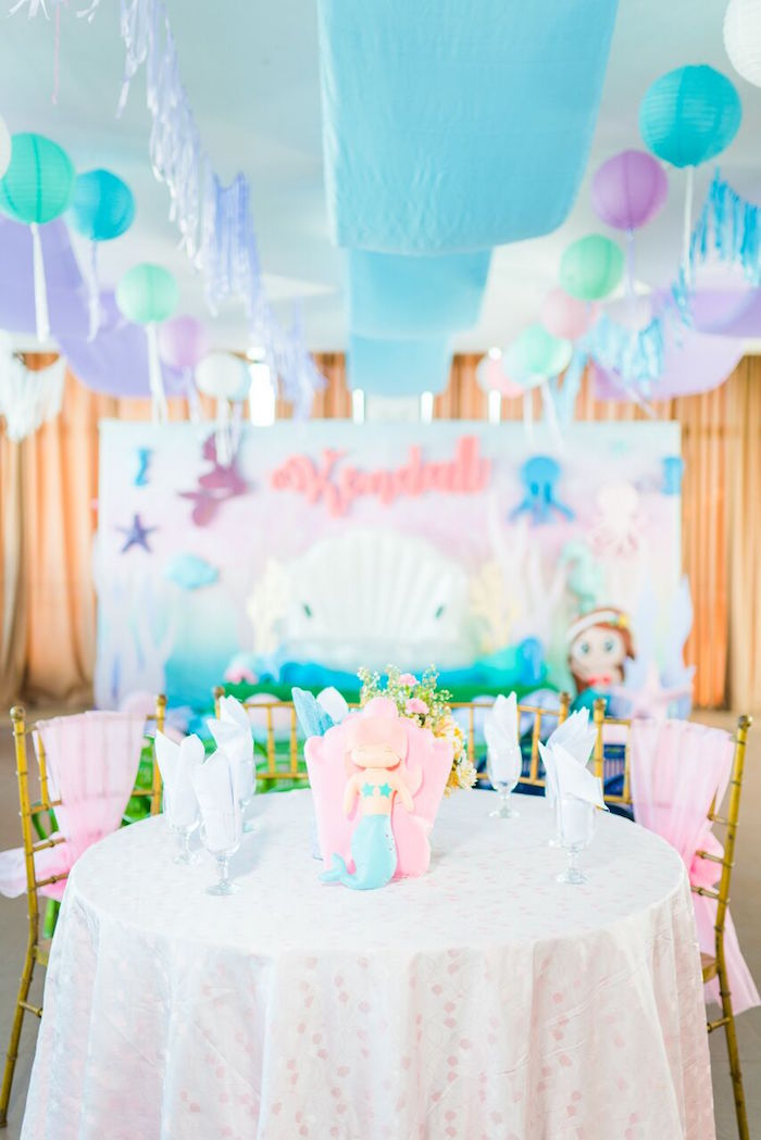 Pastel Under the Sea Party on Kara's Party Ideas | KarasPartyIdeas.com (23)