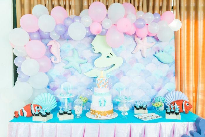Pastel Under the Sea Party on Kara's Party Ideas | KarasPartyIdeas.com (19)