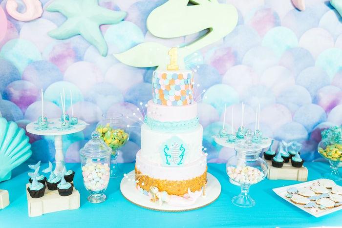 Pastel Under the Sea Party on Kara's Party Ideas | KarasPartyIdeas.com (18)