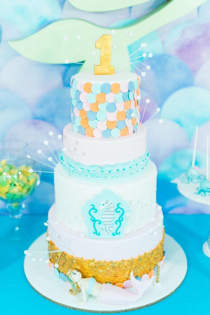 Pastel Under the Sea Party on Kara's Party Ideas | KarasPartyIdeas.com (17)