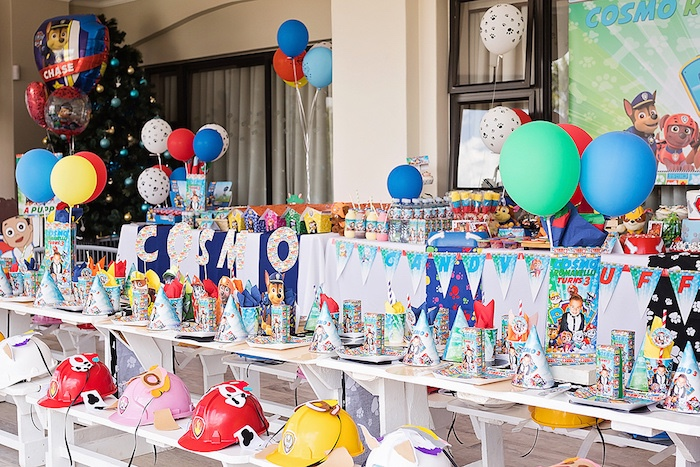 Chow Table from a Paw Patrol Inspired Puppy Party on Kara's Party Ideas | KarasPartyIdeas.com (16)