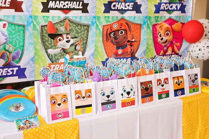 Paw Patrol Character Bags from a Paw Patrol Inspired Puppy Party on Kara's Party Ideas | KarasPartyIdeas.com (12)