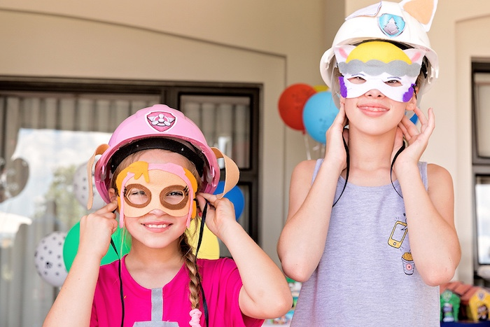 Paw Patrol Party Masks from a Paw Patrol Inspired Puppy Party on Kara's Party Ideas | KarasPartyIdeas.com (10)