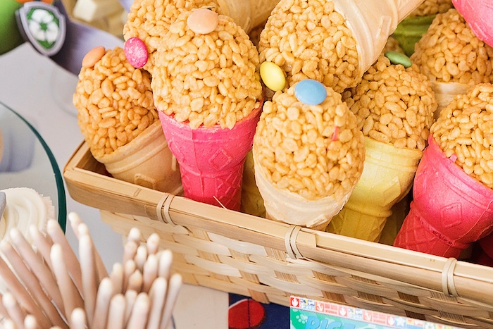 Rice Krispie Treat Pops from a Paw Patrol Inspired Puppy Party on Kara's Party Ideas | KarasPartyIdeas.com (9)