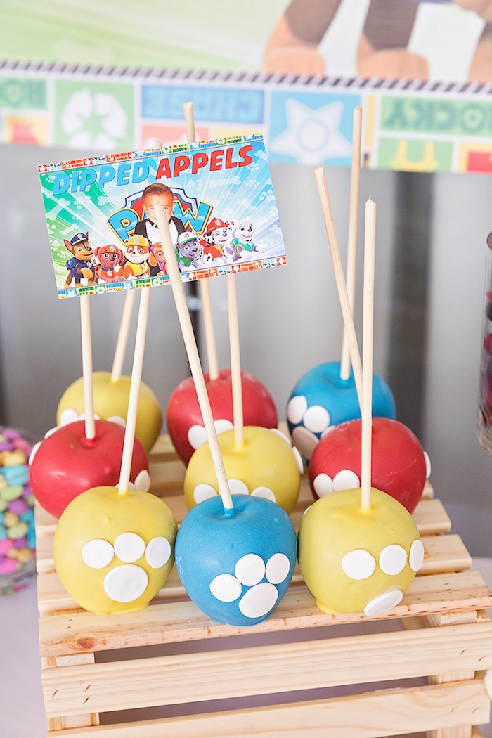 Paw Pops from a Paw Patrol Inspired Puppy Party on Kara's Party Ideas | KarasPartyIdeas.com (7)
