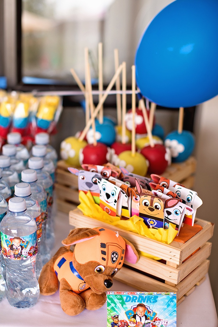 Paw Patrol Party Table from a Paw Patrol Inspired Puppy Party on Kara's Party Ideas | KarasPartyIdeas.com (29)