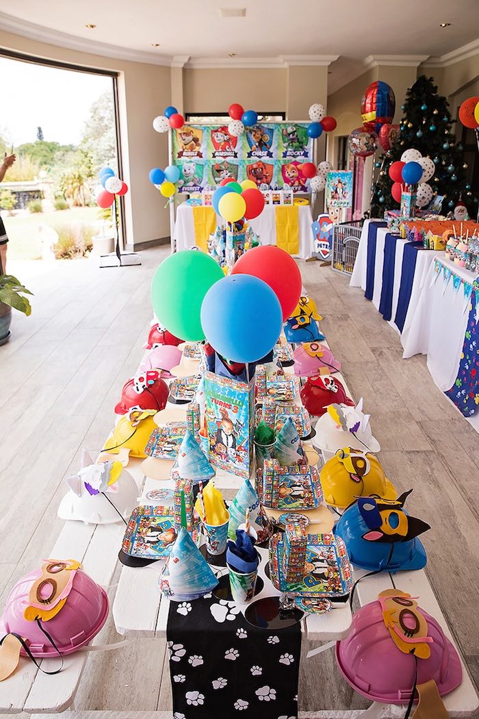 Paw Patrol Guest Tablescape from a Paw Patrol Inspired Puppy Party on Kara's Party Ideas | KarasPartyIdeas.com (27)