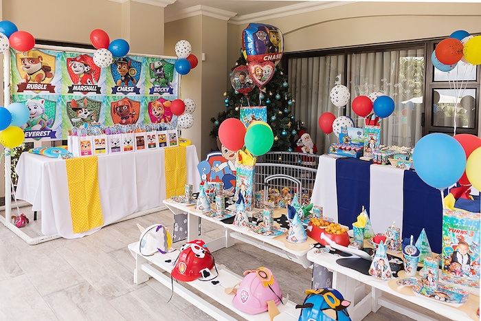 Paw Patrol Party Tables from a Paw Patrol Inspired Puppy Party on Kara's Party Ideas | KarasPartyIdeas.com (26)