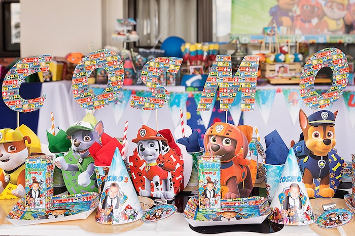 Paw Patrol Character Letter Sign from a Paw Patrol Inspired Puppy Party on Kara's Party Ideas | KarasPartyIdeas.com (24)
