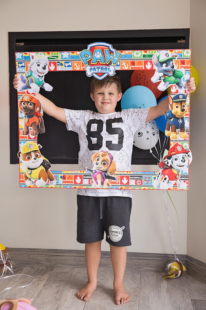 Paw Patrol Photo Frame from a Paw Patrol Inspired Puppy Party on Kara's Party Ideas | KarasPartyIdeas.com (23)