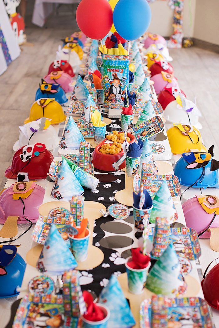 Paw Patrol Guest Tablescape from a Paw Patrol Inspired Puppy Party on Kara's Party Ideas | KarasPartyIdeas.com (22)
