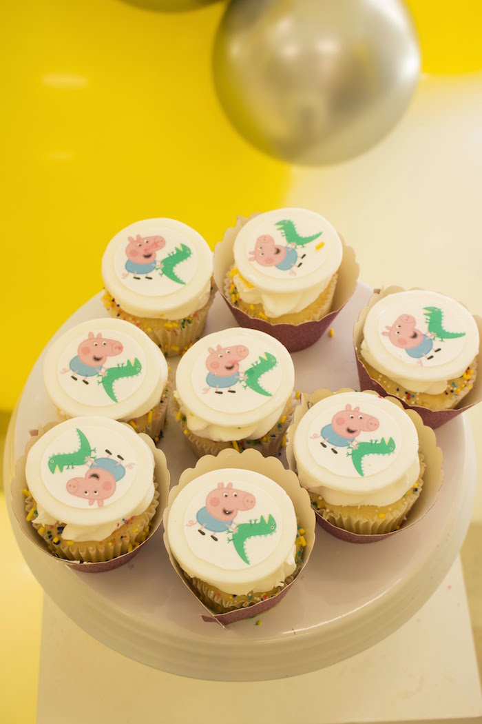 Peppa Pig Cupcakes from a Peppa Pig Birthday Party on Kara's Party Ideas | KarasPartyIdeas.com (19)