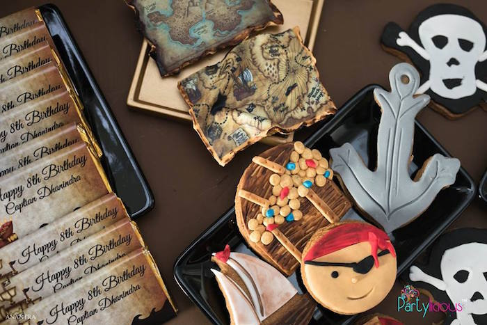 Pirate Themed Cookies from a Pirates of the Caribbean Inspired Birthday Party on Kara's Party Ideas | KarasPartyIdeas.com (26)