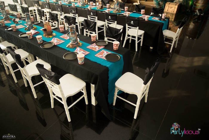 Guest Tables from a Pirates of the Caribbean Inspired Birthday Party on Kara's Party Ideas | KarasPartyIdeas.com (43)
