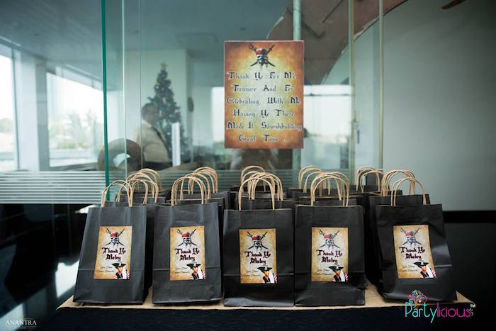 Crossbone Favor Bags from a Pirates of the Caribbean Inspired Birthday Party on Kara's Party Ideas   KarasPartyIdeas.com (24)
