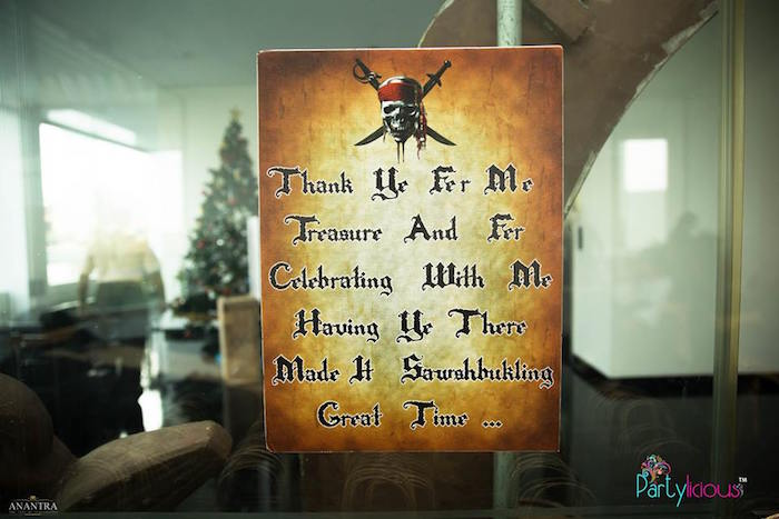 Signage from a Pirates of the Caribbean Inspired Birthday Party on Kara's Party Ideas | KarasPartyIdeas.com (23)