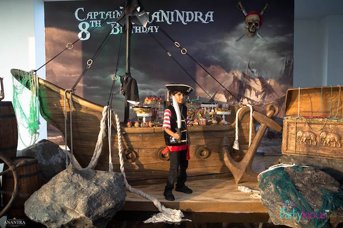 Pirate Ship Dessert Table from a Pirates of the Caribbean Inspired Birthday Party on Kara's Party Ideas | KarasPartyIdeas.com (4)