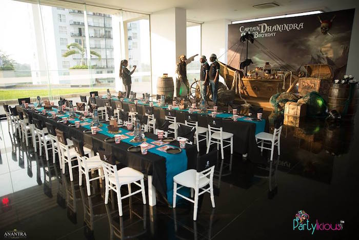 Guest Tables from a Pirates of the Caribbean Inspired Birthday Party on Kara's Party Ideas | KarasPartyIdeas.com (3)