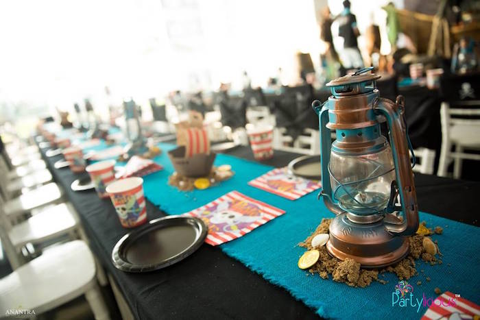 Guest Tablescape from a Pirates of the Caribbean Inspired Birthday Party on Kara's Party Ideas | KarasPartyIdeas.com (2)
