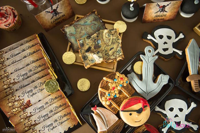 Pirate Themed Cookies from a Pirates of the Caribbean Inspired Birthday Party on Kara's Party Ideas | KarasPartyIdeas.com (36)