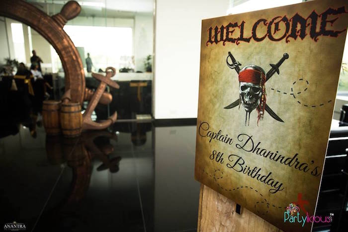 Pirates of the Caribbean Crossbone Welcome Sign from a Pirates of the Caribbean Inspired Birthday Party on Kara's Party Ideas | KarasPartyIdeas.com (35)