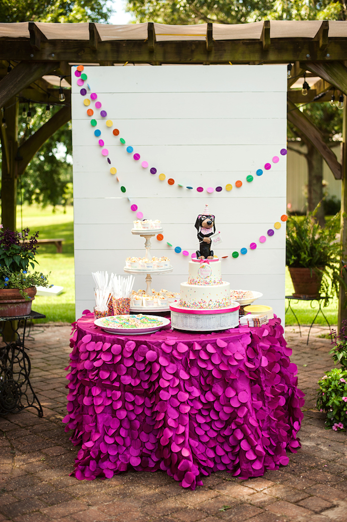 Puppy Themed Dessert Table from a Puppies and Sprinkles Birthday Party on Kara's Party Ideas | KarasPartyIdeas.com (16)
