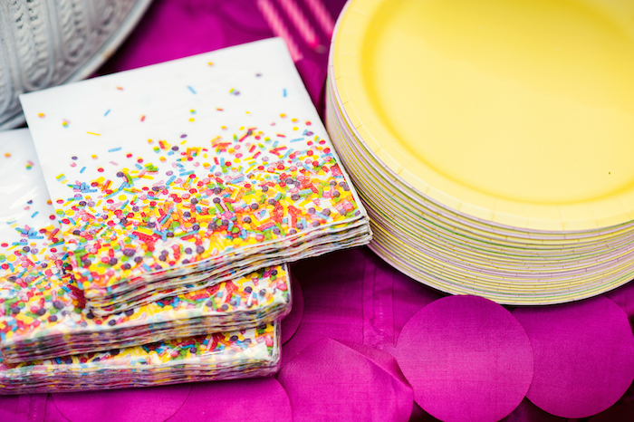 Sprinkle Napkins from a Puppies and Sprinkles Birthday Party on Kara's Party Ideas | KarasPartyIdeas.com (10)