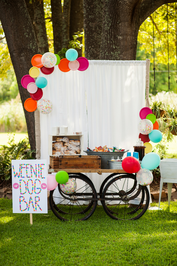 Weenie Dog Bar from a Puppies and Sprinkles Birthday Party on Kara's Party Ideas | KarasPartyIdeas.com (24)