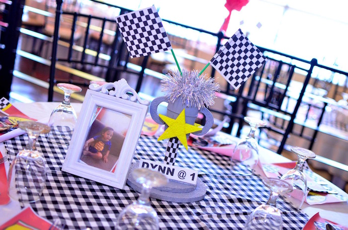 Race Car Guest Table from a Red Race Car Birthday Party on Kara's Party Ideas | KarasPartyIdeas.com (18)