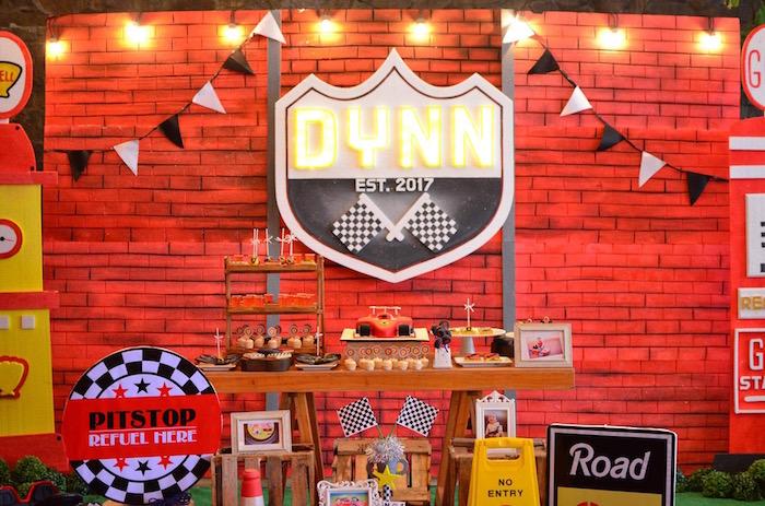 Racing Themed Dessert Table from a Red Race Car Birthday Party on Kara's Party Ideas | KarasPartyIdeas.com (17)