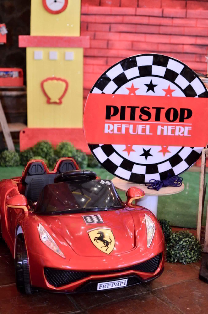 Pitstop from a Red Race Car Birthday Party on Kara's Party Ideas | KarasPartyIdeas.com (14)