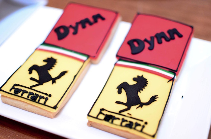 Cookies from a Red Race Car Birthday Party on Kara's Party Ideas | KarasPartyIdeas.com (13)