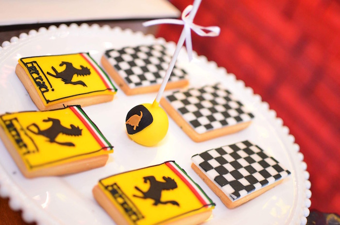 Cookies from a Red Race Car Birthday Party on Kara's Party Ideas | KarasPartyIdeas.com (11)