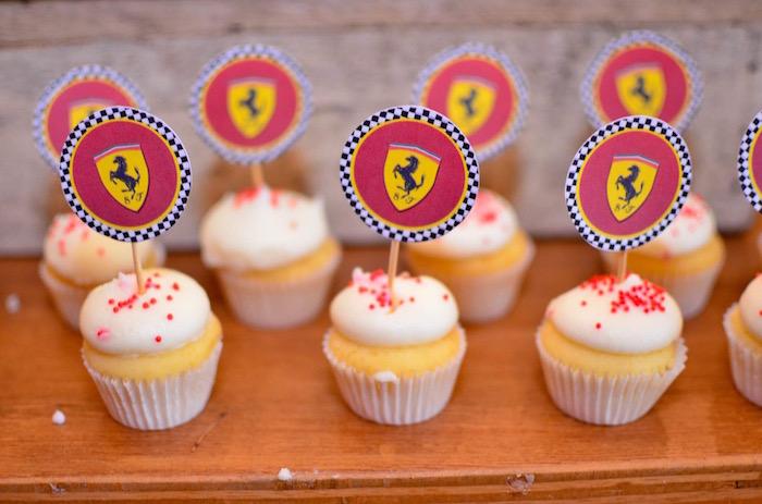 Cupcakes from a Red Race Car Birthday Party on Kara's Party Ideas | KarasPartyIdeas.com (10)