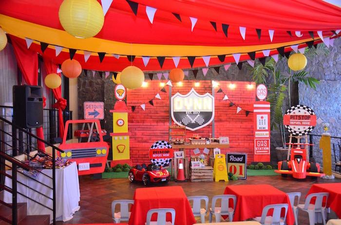 Red Race Car Birthday Party on Kara's Party Ideas | KarasPartyIdeas.com (5)