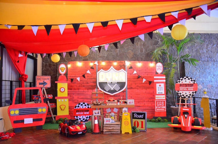 Karas Party Ideas Red Race Car Birthday Party