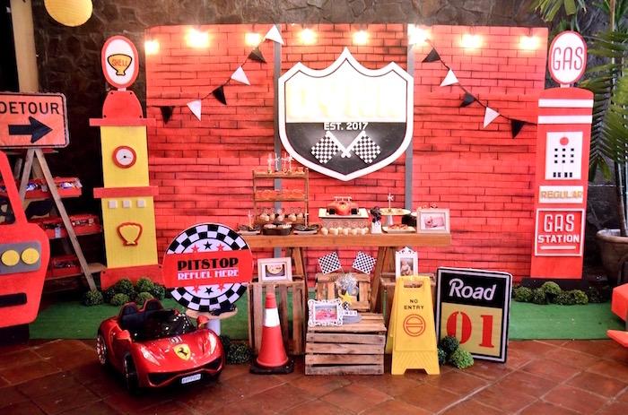 Race Car Dessert Spread from a Red Race Car Birthday Party on Kara's Party Ideas | KarasPartyIdeas.com (25)