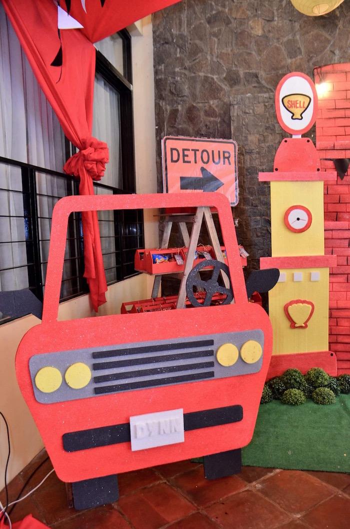 Car Standee from a Red Race Car Birthday Party on Kara's Party Ideas | KarasPartyIdeas.com (24)