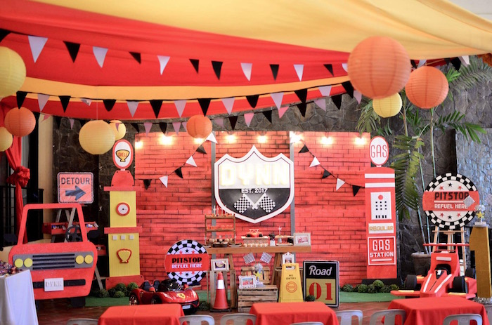 Red Race Car Birthday Party on Kara's Party Ideas | KarasPartyIdeas.com (20)