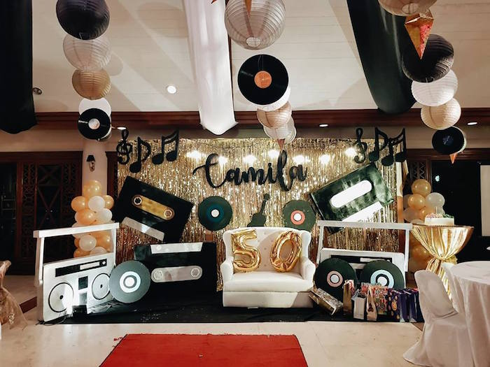 Karas Party Ideas Retro 50s Music Birthday Party Karas Party Ideas