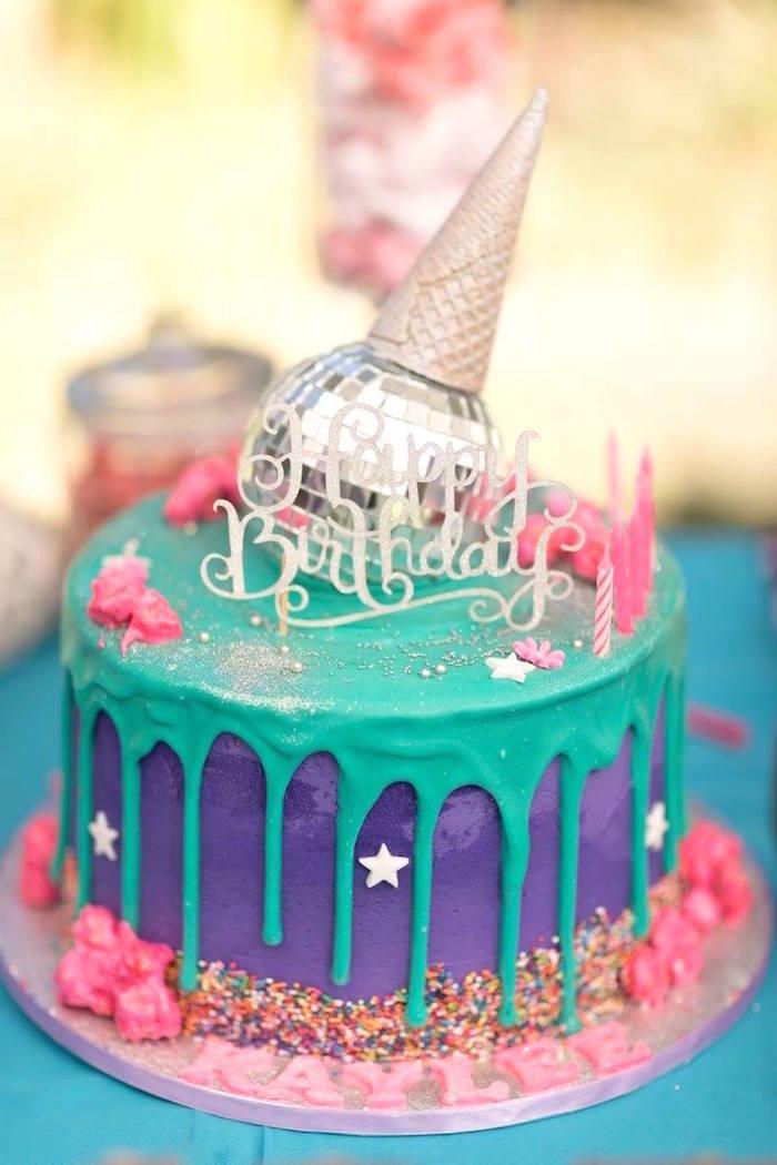 Rock Star Themed Cake from a Rock Star Birthday Party on Kara's Party Ideas | KarasPartyIdeas.com (7)